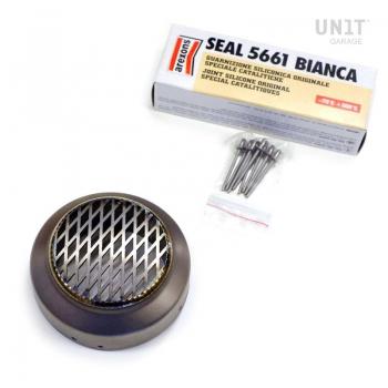 Titanium exhaust end cap grill
