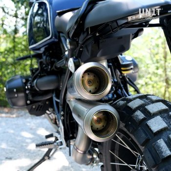 Double High Pipe nine T Scrambler with visible welding