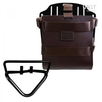Carrying system in aluminum with adjustable leather front, Quick Release System and frame (2020 until now)