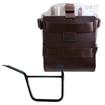 Carrying system in aluminum with adjustable leather front, Quick Release System and frame Pan America 1250