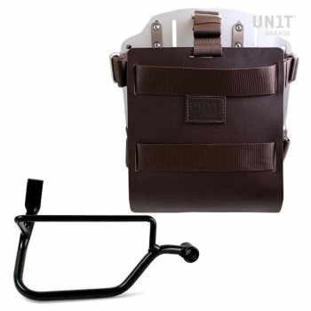 Carrying system in aluminum with adjustable leather front, Quick Release System and frame (2016 until now)