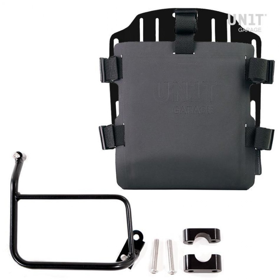 Aluminum bag holder with adjustable front in Hypalon and Quick Release System + subframe